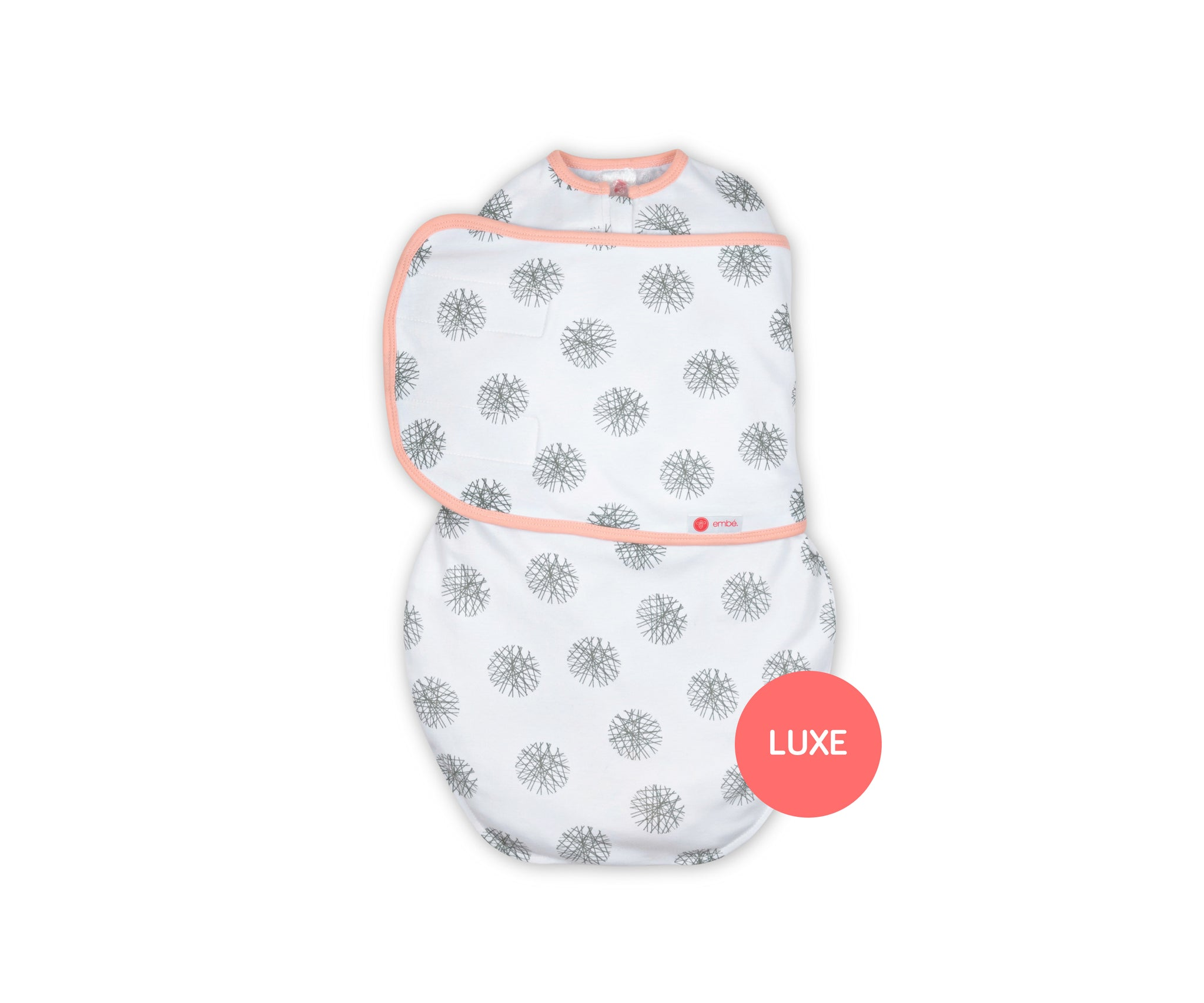 *LUXE PIMA* Starter Swaddle Original | Pink Hash