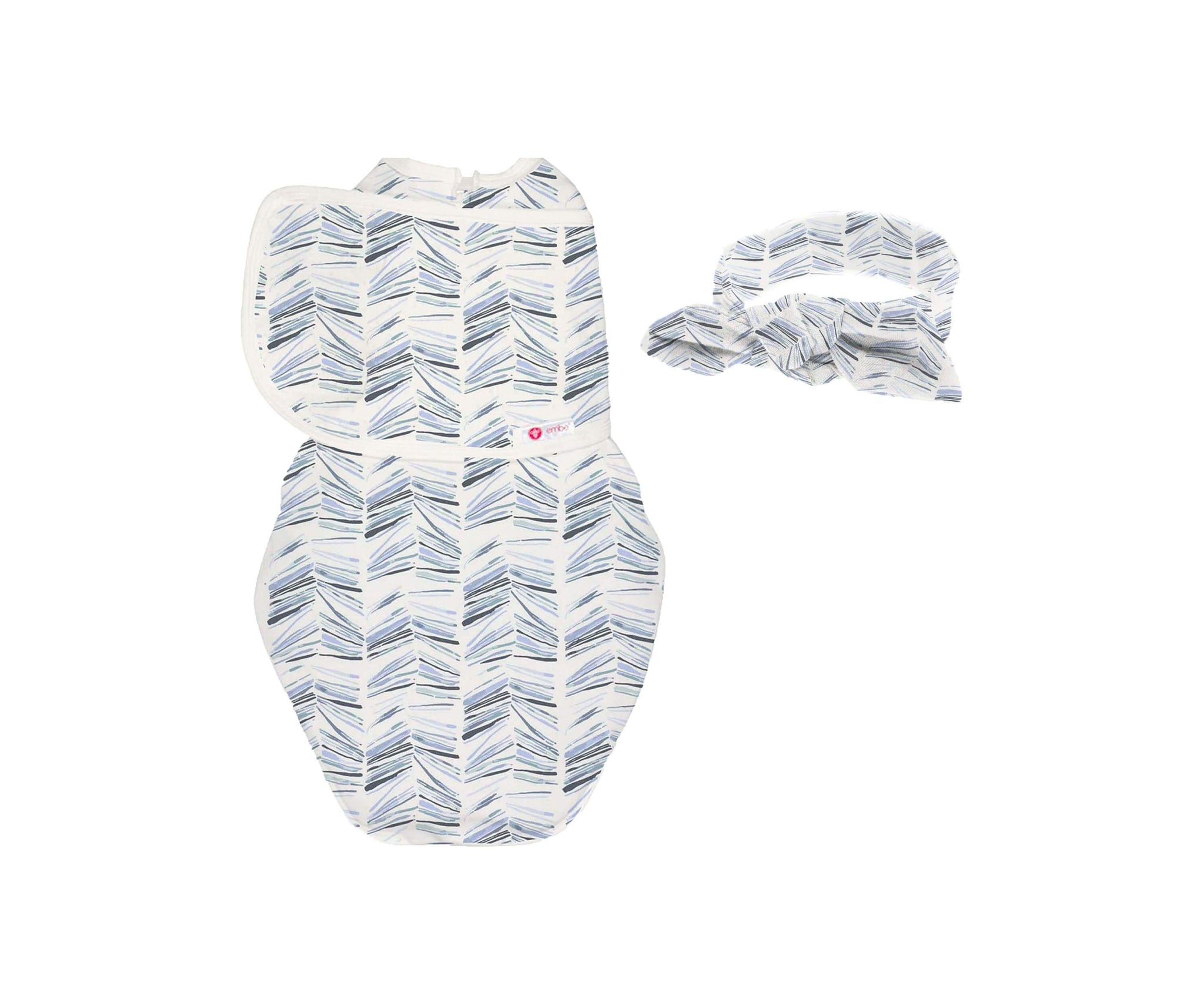Headband and Starter Swaddle Original Bundle (Angle Stripe)