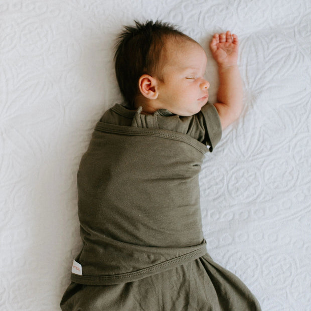 PREEMIE *Arms-IN/OUT* Transitional Swaddle Out (4-6lbs) | Moss 1