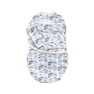 Long Sleeve Starter Swaddle | Angle Stripe Watercolor (NEW)