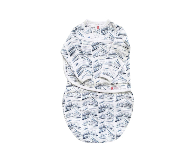 Long Sleeve Starter Swaddle | Angle Stripe Watercolor (NEW) 1