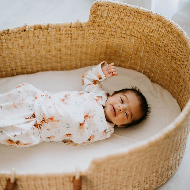 Starter Swaddle with Long Sleeves | Blush Blossom Watercolor (NEW) 1