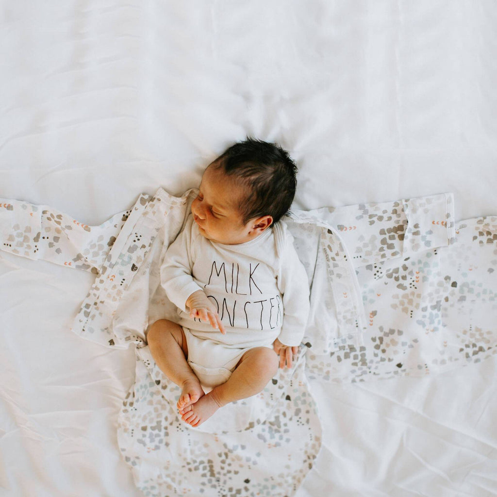 Starter Swaddle with Long Sleeves | Disperse Watercolor