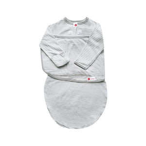 Starter Swaddle with Long Sleeves | Gray Stripe