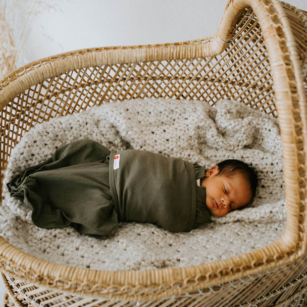 Starter Swaddle with Long Sleeves | Moss 1