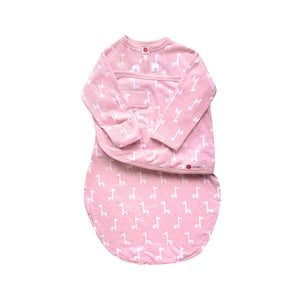 Starter Swaddle with Long Sleeves | Pink Giraffes
