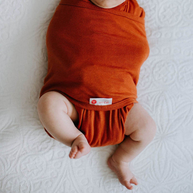 Starter Swaddle with Long Sleeves | Rust 1