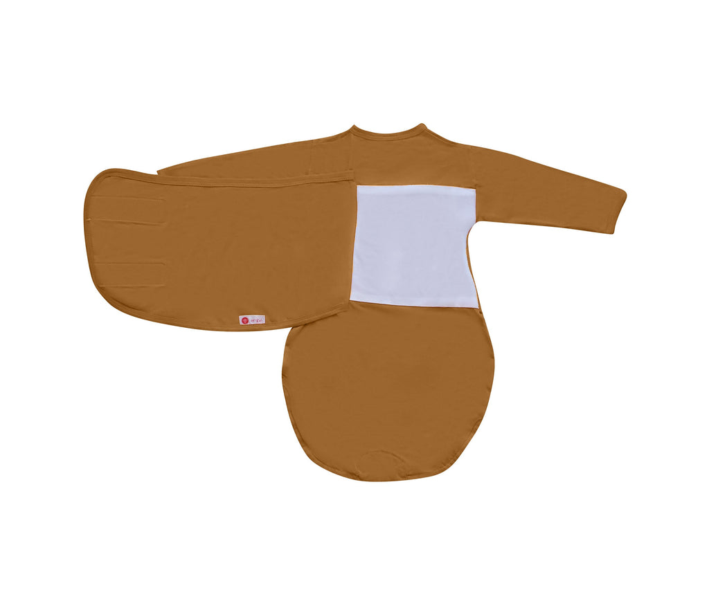 Starter Swaddle with Long Sleeves | Sand - 100% Cotton