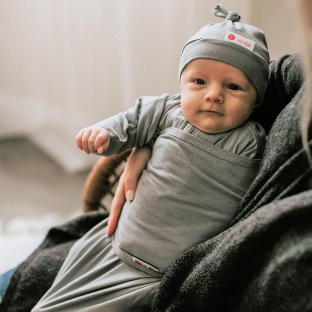 Starter Swaddle with Long Sleeves | Slate 1