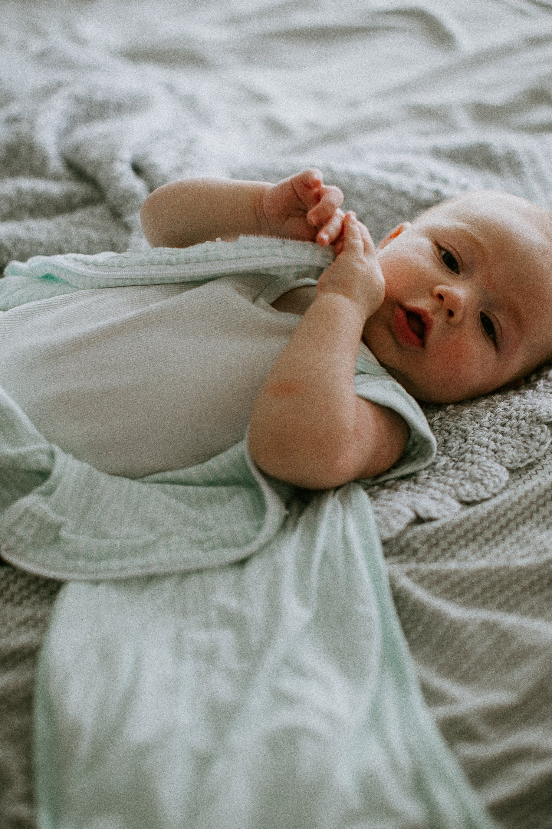 Transitional SwaddleOut | Mint Stripe