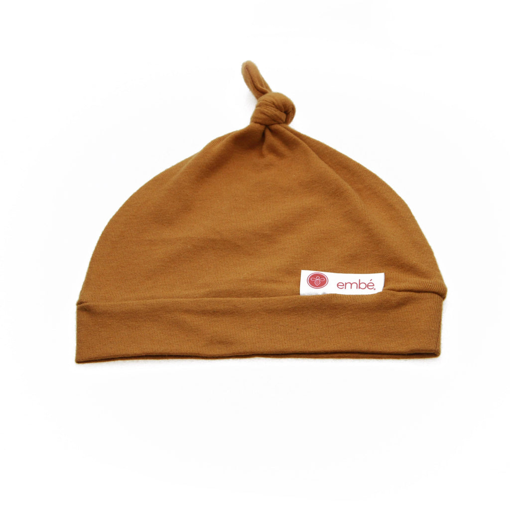 Top Knot Hat | Sand - 100% Cotton Jersey