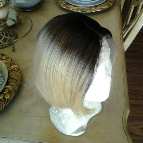 Blonde Beauty Straight Bob Full Lace Front Wig 10-12 inches Curved - Goddess Beauty Royal Wigs