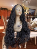 Black Deep Curly Beauty Beauty Lace Front Wig 26-30 inches!! - Goddess Beauty Royal Wigs
