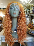 Orange  Copper Red// Beauty Water Waves//Lace Front Wig//Goddess//Beauty//Wig//Auburn