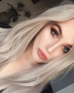 White Blonde Lace Front Wig 24-26 inches - Goddess Beauty Royal Wigs
