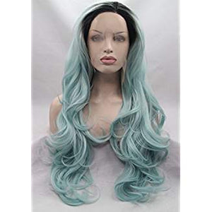 Ombre Green Lacefront Wig Flora - Goddess Beauty Royal Wigs