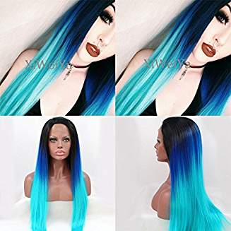 Blue Ombre Beauty Wig Brea - Goddess Beauty Royal Wigs