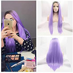 Ombre Light Purple Beauty Wig Quinn - Goddess Beauty Royal Wigs