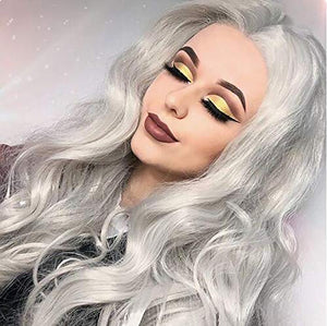 Copy of Gray White Beauty Lace Front Wig 22-26 inches!! - Goddess Beauty Royal Wigs