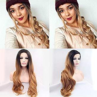 Ombre Brown Lacefront Makena - Goddess Beauty Royal Wigs