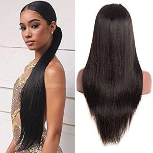 Black Silky Straight Beauty Lace Front Wig 22-24 inches!! - Goddess Beauty Royal Wigs