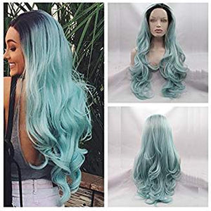 Ombre Light Blue Beauty Wig Ingrid - Goddess Beauty Royal Wigs