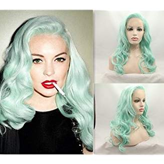 Light Green Lacefront Wig Keva - Goddess Beauty Royal Wigs