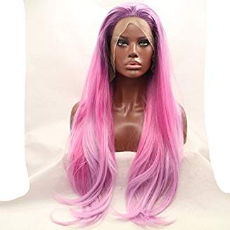 Pink Ombre Beauty Layered Straight Aviana - Goddess Beauty Royal Wigs