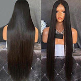Black Straight Lace Front Wig Fiona - Goddess Beauty Royal Wigs