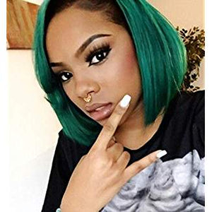 Ombre Black Green Ombre Lacefront Wig Mysterious - Goddess Beauty Royal Wigs