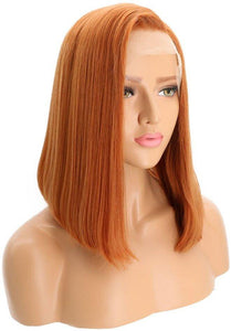 Auburn Bob Beauty Lace Front Wig - Goddess Beauty Royal Wigs