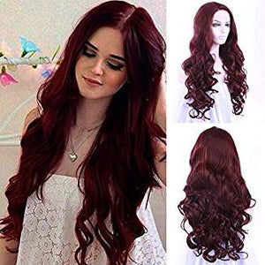 Burgundy Ombre Lacefront Wig Jasmine - Goddess Beauty Royal Wigs