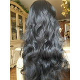Black Body Wave Lace Front Wig 26-30 inches!! - Goddess Beauty Royal Wigs