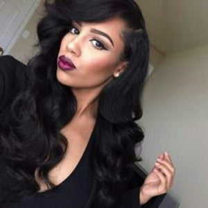 Bodywave lace front wig 20-22 inches #1b - Goddess Beauty Royal Wigs