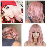 Pink Bob Beauty Full Wig - Goddess Beauty Royal Wigs