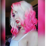 Pink White Beauty Lace Front Wig - Goddess Beauty Royal Wigs