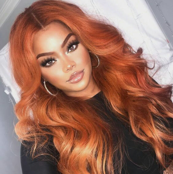 Copper Red Beauty Lace Front Wig - Goddess Beauty Royal Wigs