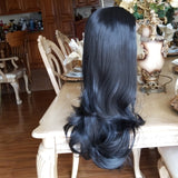 Layered Straight Black Bodywave Lace Front Wig 22-24 inches!! - Goddess Beauty Royal Wigs