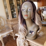 Ombre Dark Brown Blonde Lace Front Wig 24-26 inches!! - Goddess Beauty Royal Wigs