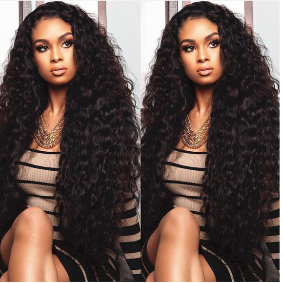 Brazilian Virgin Remy Curly Human Hair Full Lace Wig-Part Anywhere!! - Goddess Beauty Royal Wigs