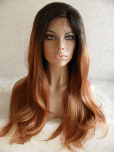 OMBRE BEAUTY DOLL FULL LACE FRONT WIG #1b/30 20-22 INCHES!! - Goddess Beauty Royal Wigs