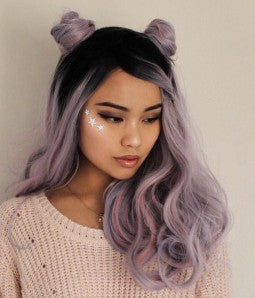 Ombre Black Lilac Silver Beauty Tyresha - Goddess Beauty Royal Wigs