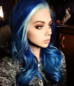 Blue Beauty Lacefront Wig Heaven - Goddess Beauty Royal Wigs