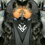 Black Bodywave Lace Front Wig - Goddess Beauty Royal Wigs
