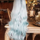 Ombre Mint Green Lace Front Wig - Goddess Beauty Royal Wigs