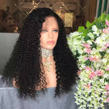 Black Curly// Human Hair/ Lace Front Wigs// Beautiful// Curly// Brazilian Remy//Wig//Glueless// Lacewig - Goddess Beauty Royal Wigs