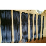 Black// Straight// Clip in Extensions// - Goddess Beauty Royal Wigs