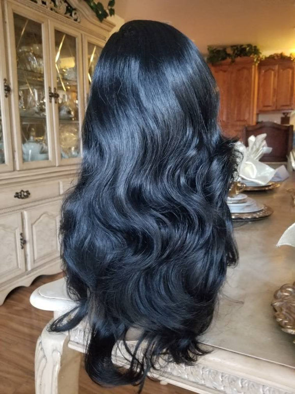 Black// Straight//Bodywave// Wig//Synthetic//Beautiful/Wavy - Goddess Beauty Royal Wigs
