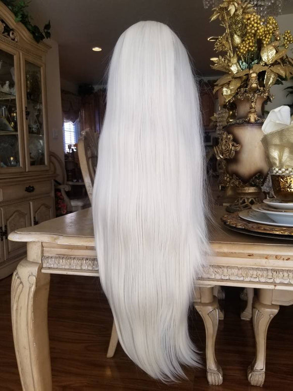 White Gray Blonde Lace Front Wig - Goddess Beauty Royal Wigs