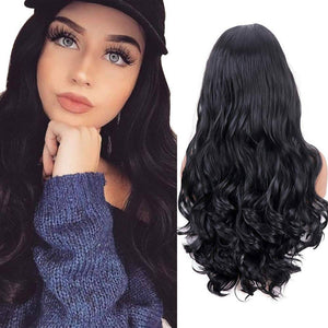 Black Wavy//LaceFrontWig//GorgeousHair//Wavy/Body Wave//Natural//Wigs for Women//Beautiful//Gorgeous//Wig - Goddess Beauty Royal Wigs